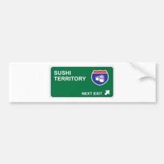 Sushi Next Exit Bumper Sticker