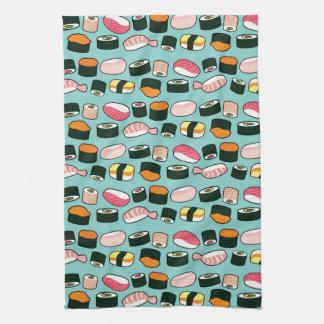 Sushi Oishii (Blue) Hand Towel