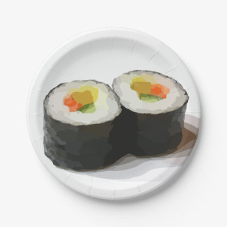 Sushi Paper Plates 7 Inch Paper Plate