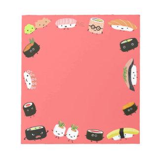 Sushi Party Notepad