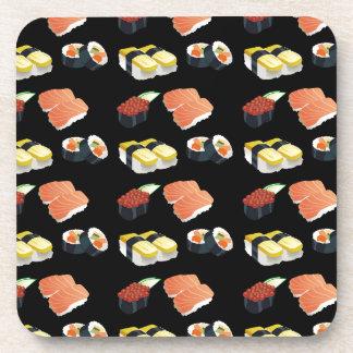 Sushi pattern coaster