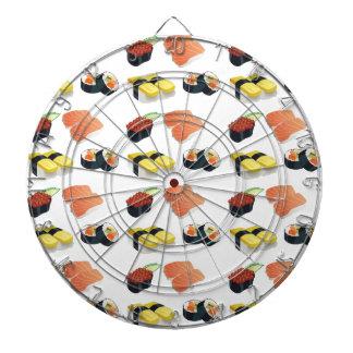 Sushi pattern dartboard