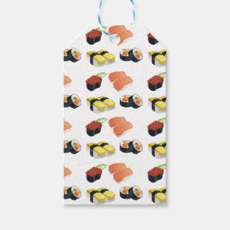 Sushi pattern gift tags