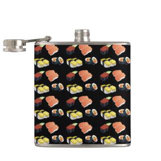 Sushi pattern hip flask