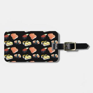 Sushi pattern luggage tag