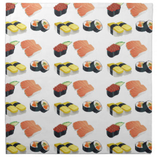 Sushi pattern napkin