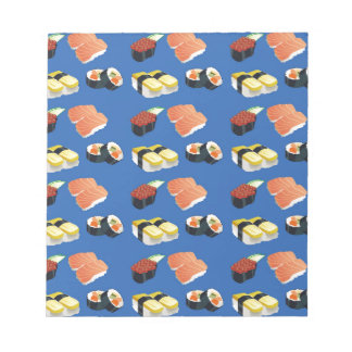 Sushi pattern notepad