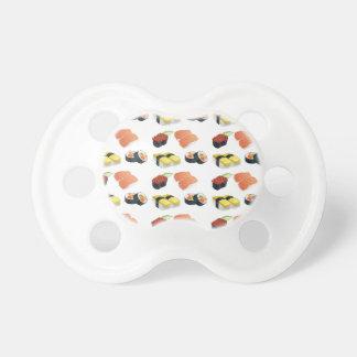 Sushi pattern pacifier