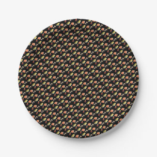 Sushi pattern paper plate
