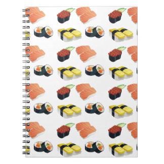 Sushi pattern spiral notebook