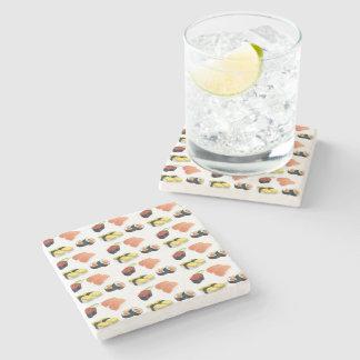 Sushi pattern stone coaster