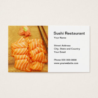 Sushi Restaurant Business Card