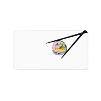 Sushi Roll & Chopsticks - Customized Template Address Label