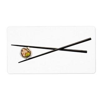 Sushi Roll Chopsticks - Customized Template Custom Shipping Labels