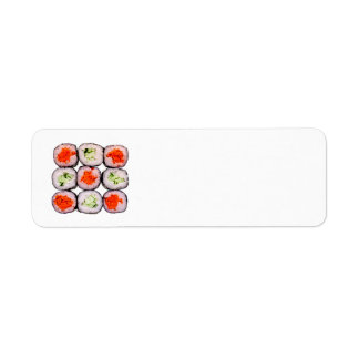 Sushi Rolls Japanese Food Template Return Address Label