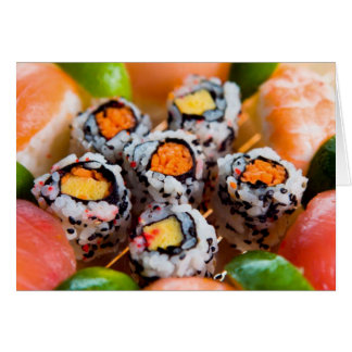 Sushi & Rolls Note Card