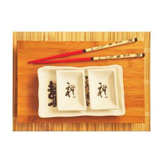 sushi set canvas print