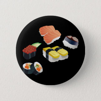 Sushi Set Design 2 Inch Round Button