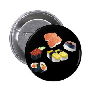 Sushi Set Design 2 Inch Round Button