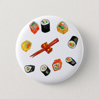 Sushi Set Watercolor2 2 Inch Round Button