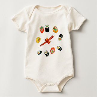 Sushi Set Watercolor2 Baby Bodysuit