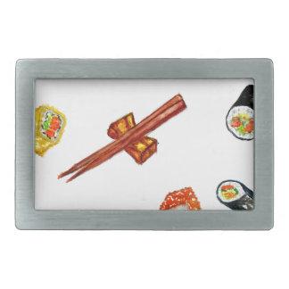 Sushi Set Watercolor2 Belt Buckle