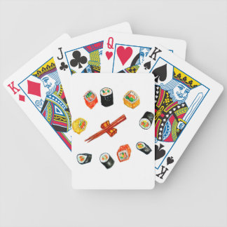 Sushi Set Watercolor2 Bicycle Playing Cards