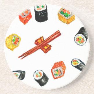Sushi Set Watercolor2 Coaster
