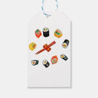 Sushi Set Watercolor2 Gift Tags