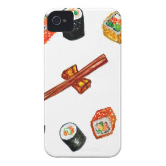 Sushi Set Watercolor2 iPhone 4 Case-Mate Cases