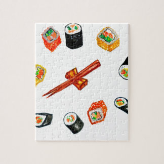 Sushi Set Watercolor2 Jigsaw Puzzle