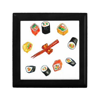Sushi Set Watercolor2 Keepsake Box