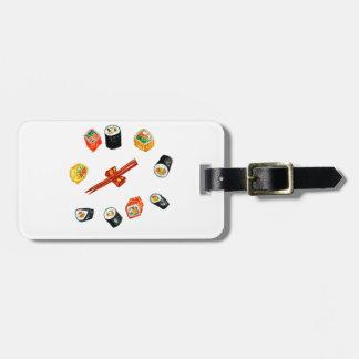 Sushi Set Watercolor2 Luggage Tag