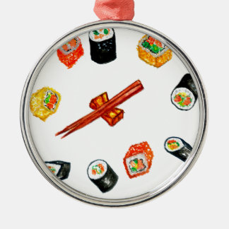 Sushi Set Watercolor2 Metal Ornament