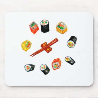 Sushi Set Watercolor2 Mouse Pad