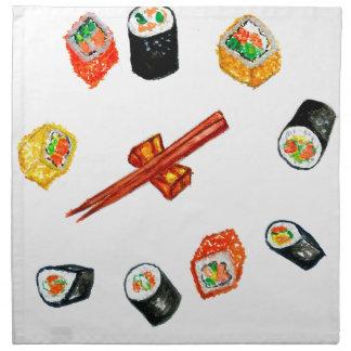 Sushi Set Watercolor2 Napkin