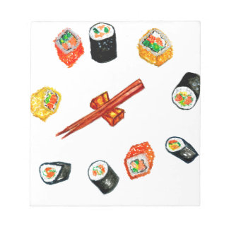 Sushi Set Watercolor2 Notepad