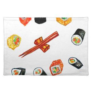 Sushi Set Watercolor2 Placemat
