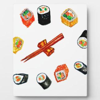Sushi Set Watercolor2 Plaque