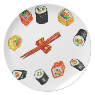 Sushi Set Watercolor2 Plate