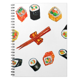 Sushi Set Watercolor2 Spiral Notebook