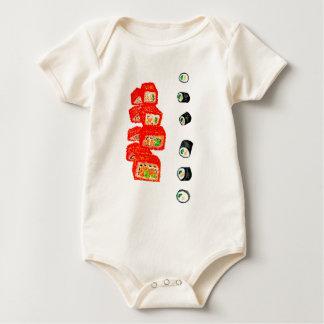 Sushi Set Watercolor3 Baby Bodysuit