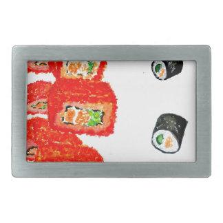 Sushi Set Watercolor3 Belt Buckle