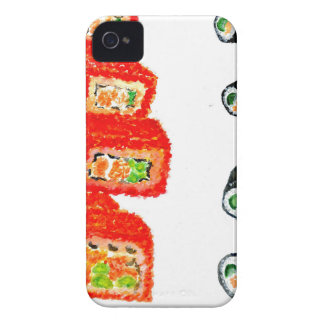 Sushi Set Watercolor3 Case-Mate iPhone 4 Case