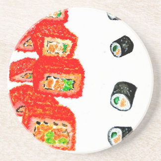 Sushi Set Watercolor3 Coaster
