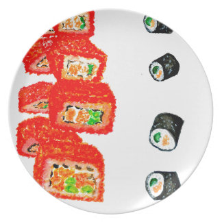 Sushi Set Watercolor3 Dinner Plates