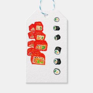 Sushi Set Watercolor3 Gift Tags