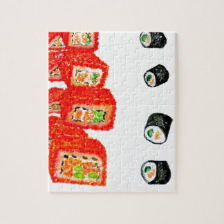 Sushi Set Watercolor3 Jigsaw Puzzle