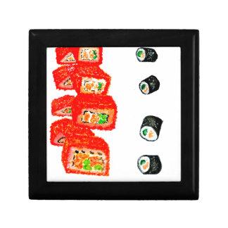 Sushi Set Watercolor3 Keepsake Boxes