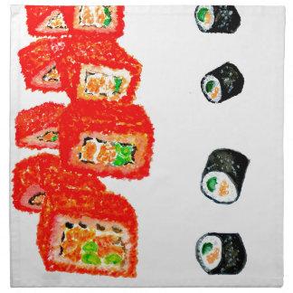Sushi Set Watercolor3 Napkin